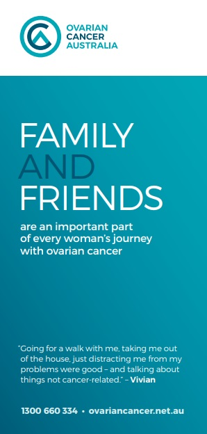 Family And Friends Booklet Ovarian Cancer Genetic Link Genetic Support Network Of Victoria